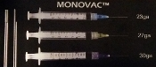 Endo MonoVac Irrigation Pre-Tipped 3cc Syringes